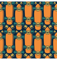 Seamless pattern with the image of longboard vector image