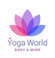 Lotus flower as symbol of yoga vector image