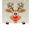 happy red nosed reindeer vector image