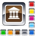 exchange square button vector image