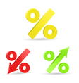 Percent colored symbols vector image vector image
