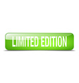limited edition green square 3d realistic isolated vector image
