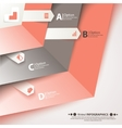 Modern business steb origami style options banner vector image