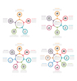 Circle Diagrams Set vector image