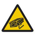 Camera surveillance sign - CCTV triangle symbols vector image