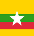 flag of myanmar vector image