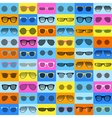 Glasses pattern on color background vector image