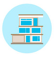 house icon on blue background modern smart home vector image