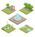 Isometric Landscaping Composition vector image