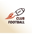 logo template football club rugby vector image