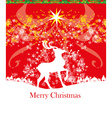 Merry Christmas background with snowflakes and vector image