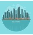 Modern city landscape Flat vector image