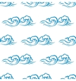 Seamless pattern of cresting ocean waves vector image