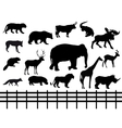 set wild animals - vector image