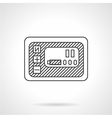 Smart panel line icon vector image