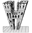 watch tower vector image