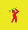 golf sport golfer man vector image