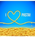 I love pasta background vector image