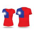 Flag shirt design of Taiwan vector image