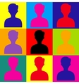 User avatar Pop-art style icons set vector image
