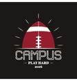 American football campus logotype emblem label vector image