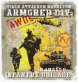 batalyon infantry attacker vector image