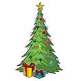Cartoon christmas tree vector image