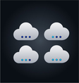 Cloud computing concept with buttons vector image