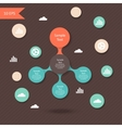 colorful metaball round diagram infographics vector image