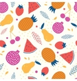 colorful tasty fruit seamless pattern vector image