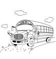 coloring page of a school bus vector image