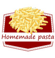 Homemade pasta vector image