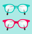 Retro Glasses Set vector image