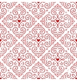 Seamless ornate pattern with hearts vector image