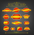 Set luxury labels for sale vector image