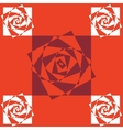 Spiral effect background vector image