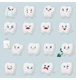 Teeth cartoons set vector image