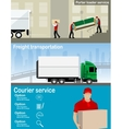 Transportation and delivery company vector image