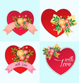 various decorative heart symbol vector image