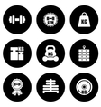 weight icons set vector image