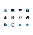 Network duotone icons on white background vector image vector image