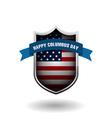Columbus day celebration design vector image