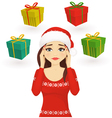 Stressed holiday woman vector image