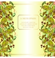 Beans Leaves And Fruit Summer Abstract Floral vector image