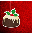 Christmas background with pudding vector image