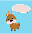 deer toy or character vector image