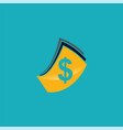 dollar cash logo vector image