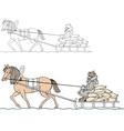 Farmer on the cart vector image