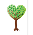 Heart tree with leafs vector image
