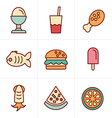 Icons Style Food Icons Set Design vector image
